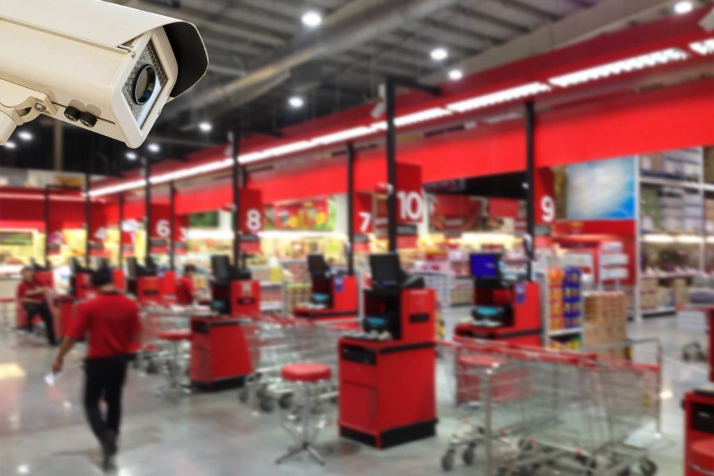 videocamera casse supermercato vigilanza