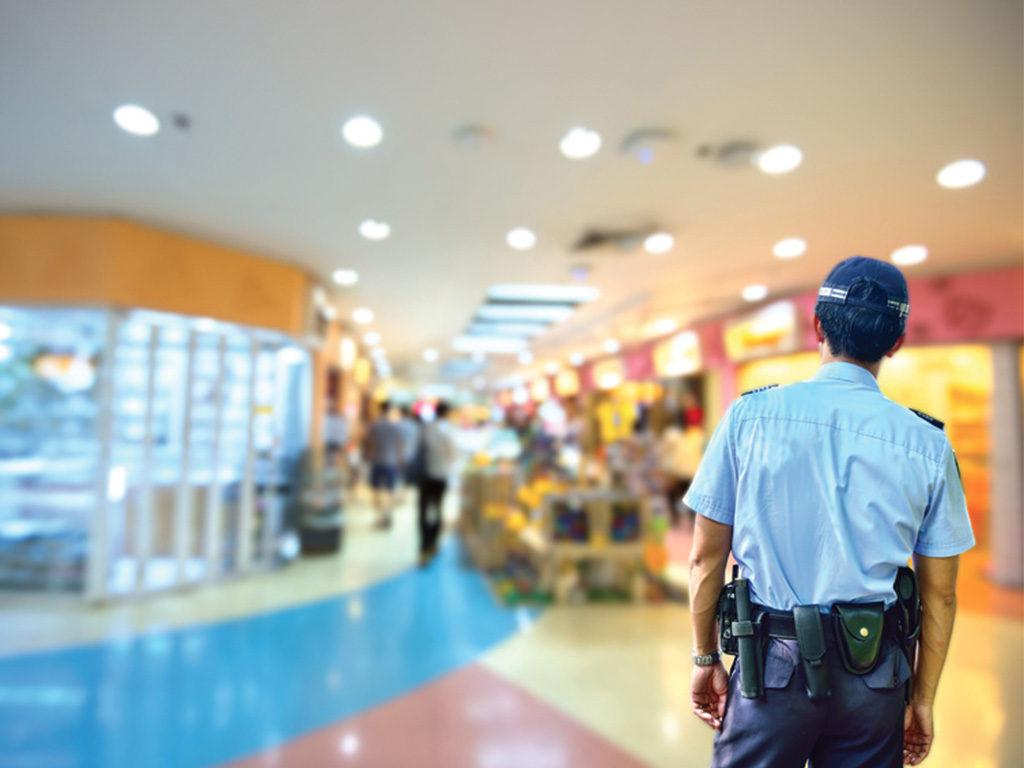 sorvegliante supermercato di vigilanza hermes